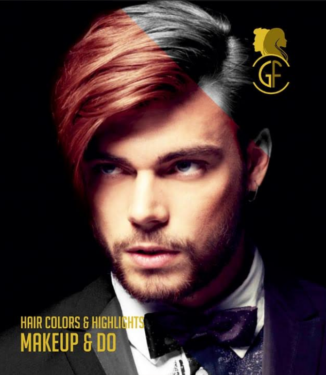 Gold Fingers Loreal Fashion Trendy Hair Beard Colouring Highlights