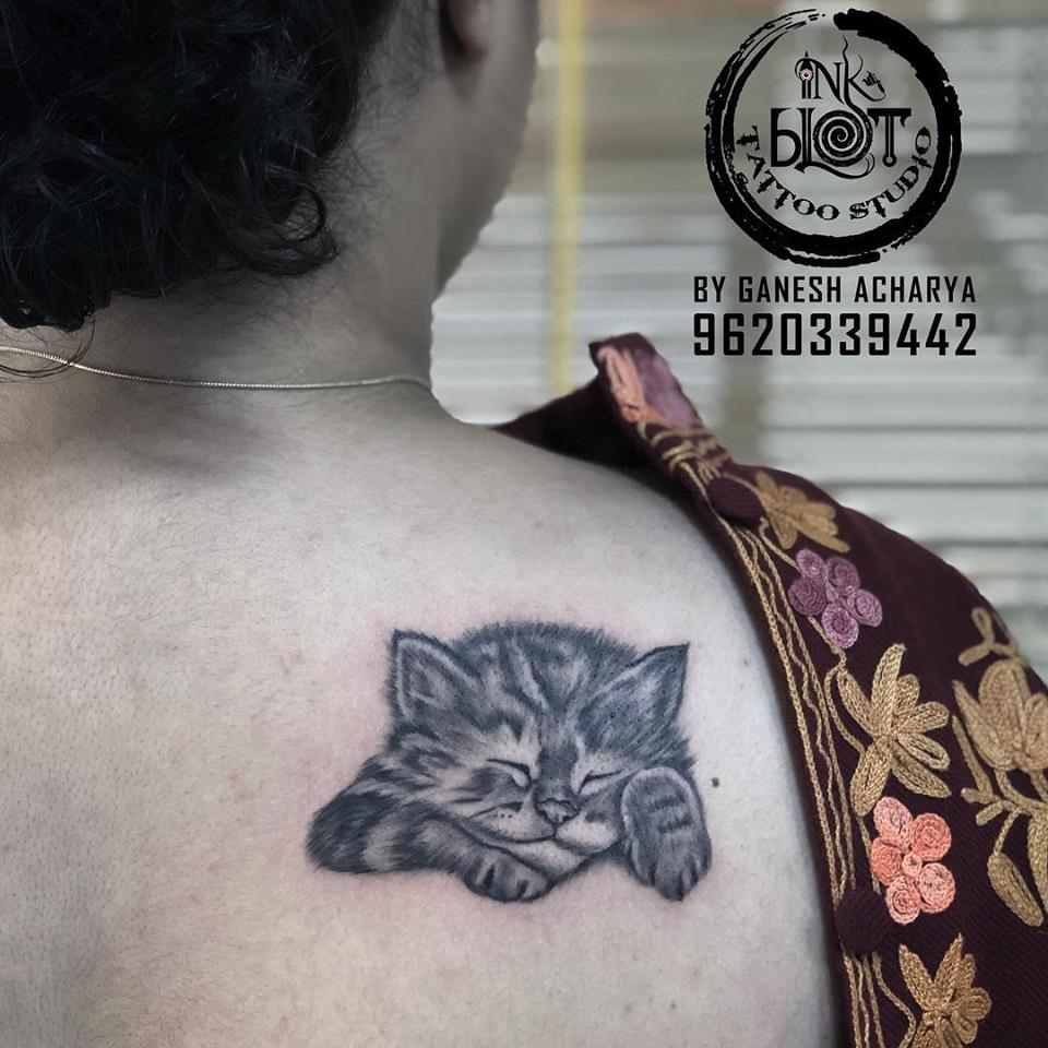 Ink Blot Tattoos Bangalore Tattoo Studios Cat Tattoos Cute Cat
